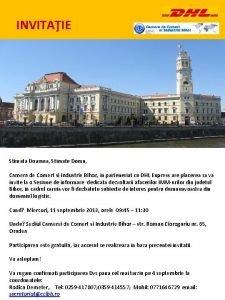 INVITAIE Stimata Doamna Stimate Domn Camera de Comert