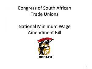 Congress of South African Trade Unions National Minimum