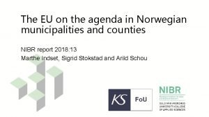 The EU on the agenda in Norwegian municipalities