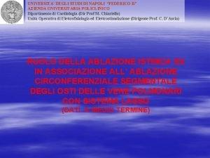 UNIVERSITA DEGLI STUDI DI NAPOLI FEDERICO II AZIENDA