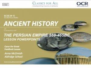 Cyrus the Great Feedback Lesson Cyrus assessment Feedback