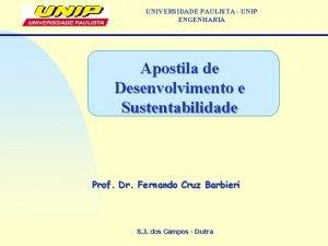 UNIVERSIDADE PAULISTA UNIP ENGENHARIA Apostila de Desenvolvimento e