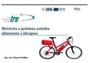 Bicicletta a pedalata assistita alimentata a idrogeno Ing