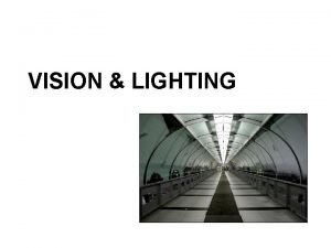 VISION LIGHTING Topics to be discussed The eye