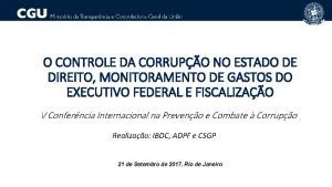O CONTROLE DA CORRUPO NO ESTADO DE DIREITO