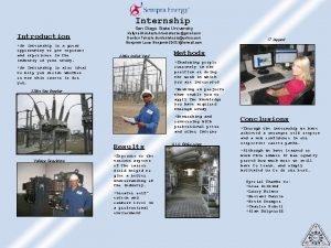 Internship San Diego State University Introduction An internship