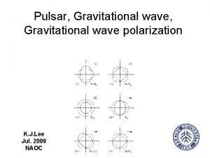 Pulsar Gravitational wave polarization K J Lee Jul