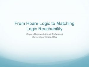 From Hoare Logic to Matching Logic Reachability Grigore