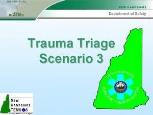 Trauma Triage Scenario 3 Scenario 3 Scene Info