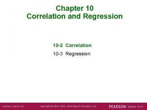 Chapter 10 Correlation and Regression 10 2 Correlation