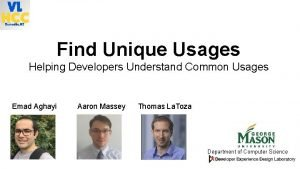 Find Unique Usages Helping Developers Understand Common Usages