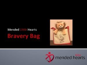 Mended Little Hearts Bravery Bag Bravery Bag Program