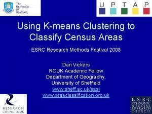 Using Kmeans Clustering to Classify Census Areas ESRC