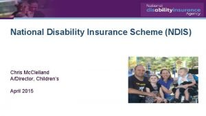 National Disability Insurance Scheme NDIS Chris Mc Clelland