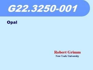 G 22 3250 001 Opal Robert Grimm New