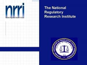 The National Regulatory Research Institute Alternative Dispute Resolution