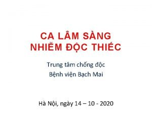 CA L M SNG NHIM C THIC Trung