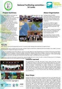 National Facilitating committee Sri Lanka Project Summary The