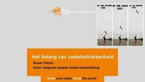 Het belang van vaderbetrokkenheid Susan Ketner lector integrale