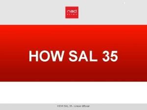 1 HOW SAL 35 Linear diffuser HOW SAL