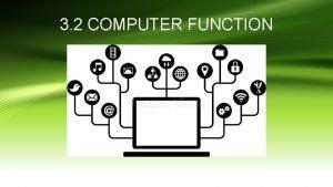 3 2 COMPUTER FUNCTION Computer Function COMPUTER FUNCTION