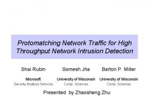 Protomatching Network Traffic for High Throughput Network Intrusion
