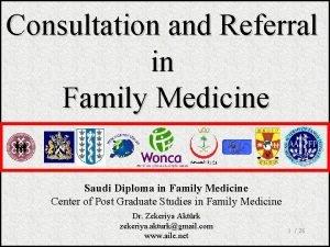 Consultation and Referral in Family Medicine Saudi Diploma