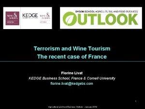 WINE MNGMT Wine Economics Terrorism and Wine Tourism