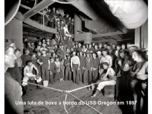 Uma luta de boxe a bordo do USS