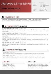 Alexandre LEVASSEURE Titre du poste recherch Nom Prnom