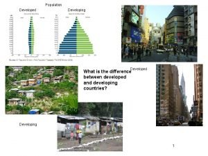 Population Developed Developing Developed What is the difference
