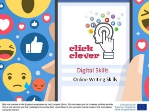 Digital Skills Online Writing Skills Writing in Internet