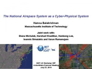 The National Airspace System as a CyberPhysical System