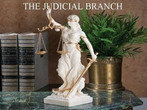 THE JUDICIAL BRANCH SSCG 16 abcd The Judicial
