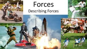 Forces Describing Forces What is a force The
