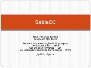 Sable CC Jos Francisco Pereira Equipe de Monitores