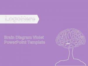 Brain Diagram Violet Power Point Template Brain Diagram