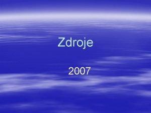 Zdroje 2007 Zdroje spnan na primrn stran ABB