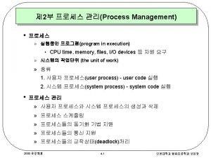 Process Concept Process Control Block PCB PCB new