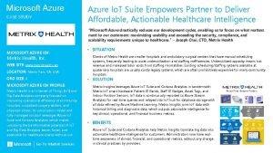 Microsoft Azure CASE STUDY Partner Logo MICROSOFT AZURE