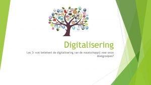 Digitalisering Les 3 wat betekent de digitalisering van