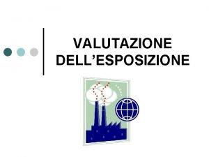 VALUTAZIONE DELLESPOSIZIONE ESPOSIZIONE UMANA ESPOSIZIONE PROFESSIONALE INALAZIONE Lesposizione