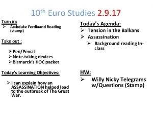 10 th Euro Studies 2 9 17 Turn