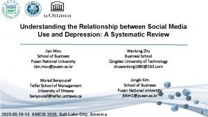 Understanding the Relationship between Social Media Use and
