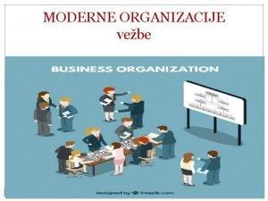 MODERNE ORGANIZACIJE vebe Pojam organizacije Organizacija kao oblik
