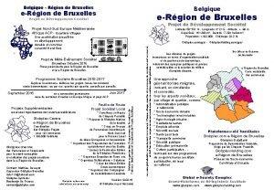 Belgique Rgion de Bruxelles Belgique eRgion de Bruxelles