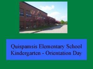 Quispamsis Elementary School Kindergarten Orientation Day Meeting Overview