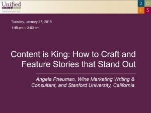 STORYTELLING Content is King How to Craft and
