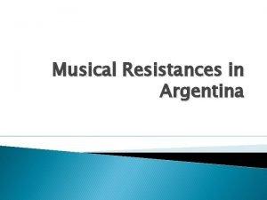 Musical Resistances in Argentina Nuevo Cancionero Similar to