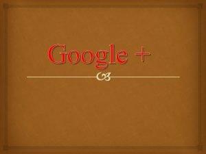 Google Pginas de Google y perfiles de Google